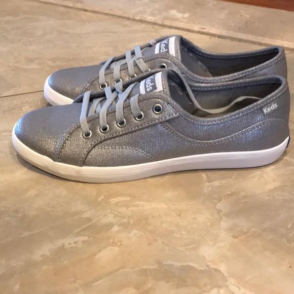 Brand New Keds Coursa Metallic Silver